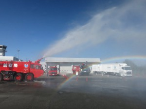 広島空港の消防車